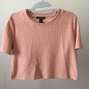Forever 21 Salmon Crop Top